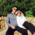 Novak Djokovic et son épouse Jelena Ristic, amoureux lors d'une journée nature - photo publiée sur le compte Twitter de Novak Djokovic, le 20 avril 2015