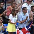 Kims Sears lors du match entre Andy Murray et Gilles Simon en quart de finale de la Coupe Davis entre la France et la Grande-Bretagne, au Queens Club de Londres, le 19 juillet 2015