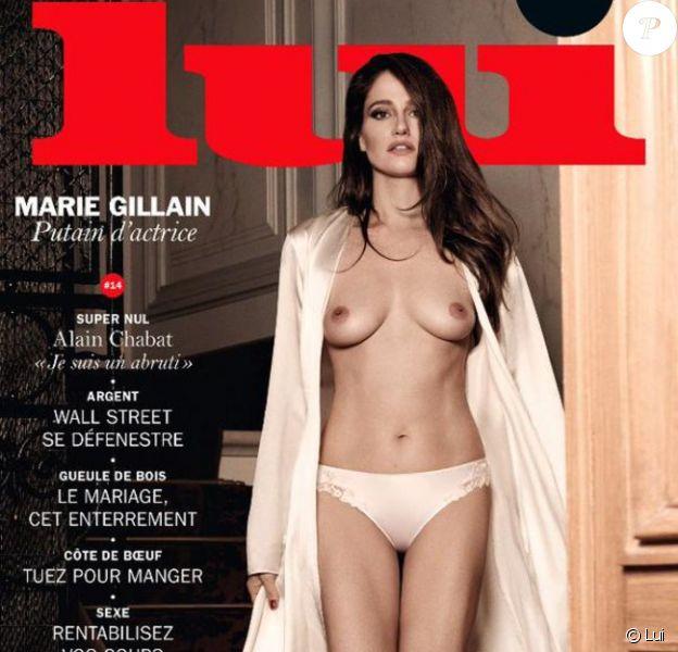 Janvier 2015 : Marie Gillain apparait nue en couverture du magazine Lui.