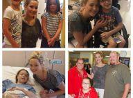 Jennifer Lawrence au naturel et radieuse auprès d'enfants malades