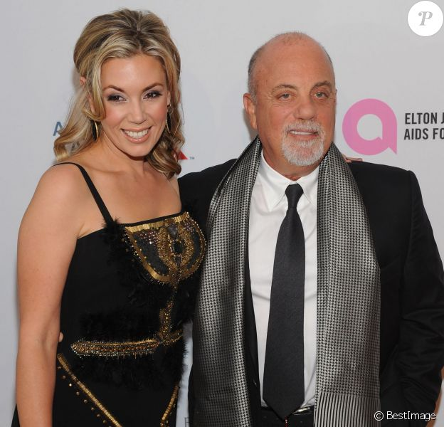 Billy Joel et Alexis Broderick au gala de la Elton John AIDS Foundation à New York le 15 octobre 2013.