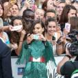 """Emily Ratajkowski (robe Balmain) - Avant-première du film """"We Are Your Friends"""" au Kinepolis Lomme (Lille), le 12 août 2015."""