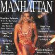 Julie Hayek, Miss USA 1983 et dauphine de Miss Univers 1983, en couverture du magazine Manhattan