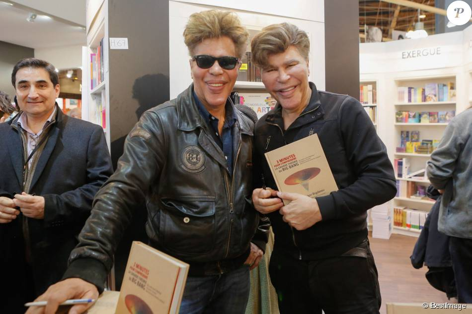 Les jumeaux grichka et igor bogdanoff bogdanov salon du livre la porte de versailles - Salon du livre porte de versailles 2015 ...