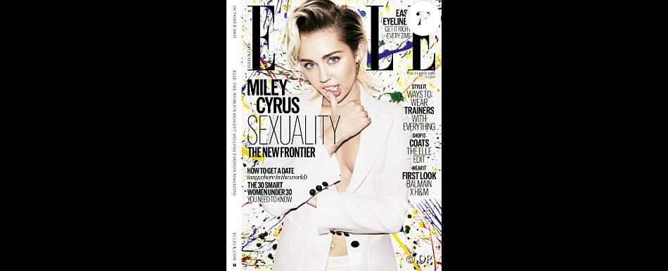 Miley Cyrus en couverture du magazine Elle / août 2015