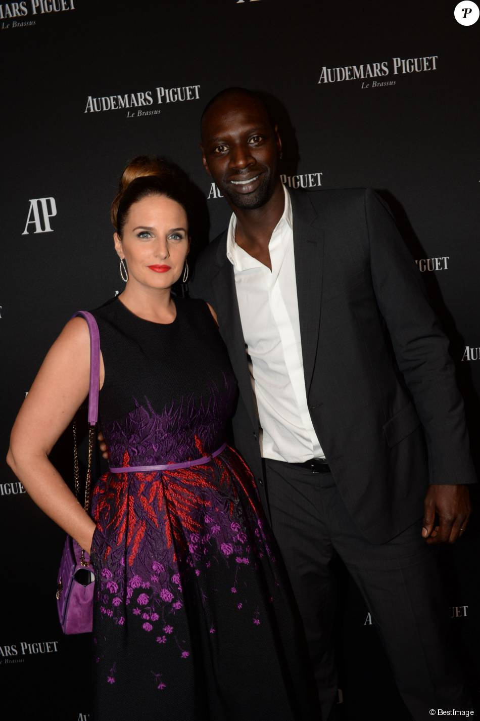 omar sy et sa femme h l ne la maison audemars piguet a c l br le lancement de la nouvelle. Black Bedroom Furniture Sets. Home Design Ideas