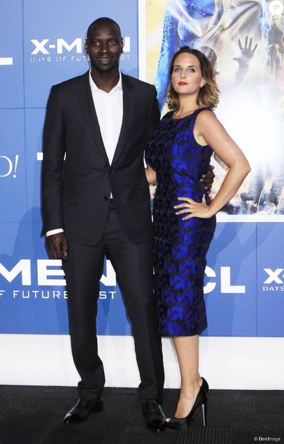 omar sy et sa femme h l ne la premi re du film x men days of future past au centre jacob. Black Bedroom Furniture Sets. Home Design Ideas