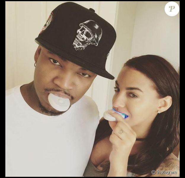 Ne-Yo et sa fiancée Crsytal sur Instagram. Juillet 2014