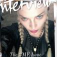 Madonna en couverture du nouveau numéro du magazine  Interview .