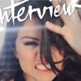 Selena Gomez en couverture du nouveau numéro du magazine  Interview .