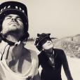 Nikki Reed et son mari Ian Somerhalder font du vélo / photo postée sur le compte Instagram de l'actrice américaine.