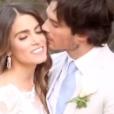 Nikki Reed et son mari Ian Somerhalder lors de leur mariage / photo postée sur le compte Instagram de l'actrice américaine.