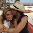Nikki Reed et son mari Ian Somerhalder en lune de miel / photo postée sur le compte Instagram de l'actrice américaine.
