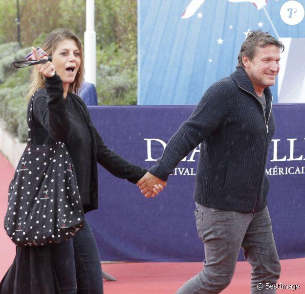 L'animateur Benjamin Castaldi officialise avec sa compagne Aurore Aleman, lors du 41e Festival du film américain de Deauville, le 5 septembre 2015.