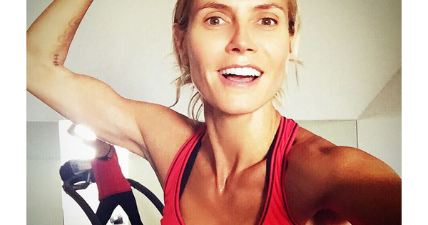 heidi klum en pleine s ance de sport photo post e sur instagram. Black Bedroom Furniture Sets. Home Design Ideas