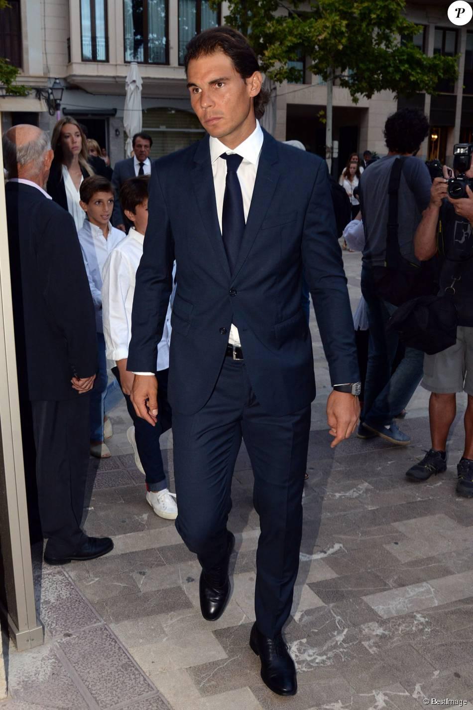 Le tennisman Rafael Nadal- Obsèques du pianiste Rafael Nadal, le grand-père du tennisman Rafael Nadal, en l'église Nuetra Senora de los Dolores à Manacor, sur l'île de Majorque le 8 septembre 2015