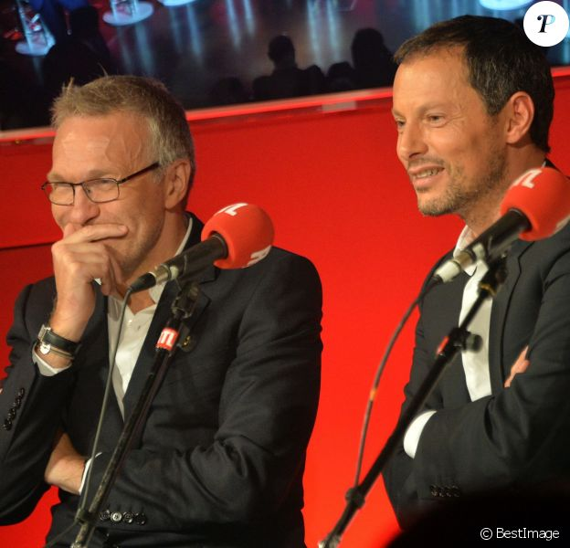 Laurent Ruquier et Marc-Olivier Fogiel - Conférence de rentrée de RTL à Paris. Le 8 septembre 2015