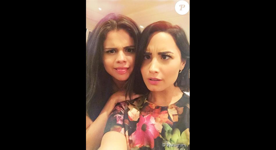 Exceptionnel Demi Lovato et sa meilleure amie Selena Gomez / photo postée sur  CD39