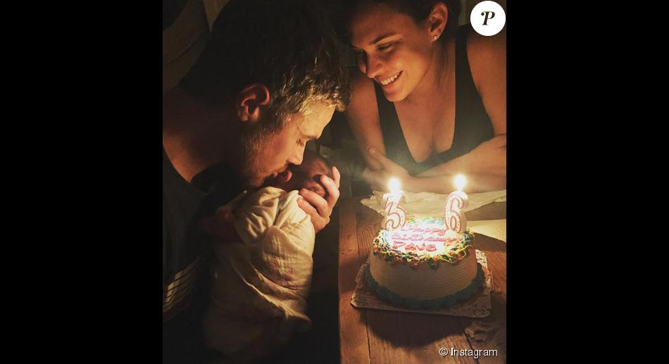 Dave Annable fête ses 36 ans avec sa fille Charlie Mae / photo postée sur Instagram.