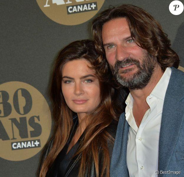 Frédéric Beigbeder et sa femme Lara Micheli - Soirée des 30 ans de Canal + au Palais de Tokyo à Paris le 4 novembre 2014