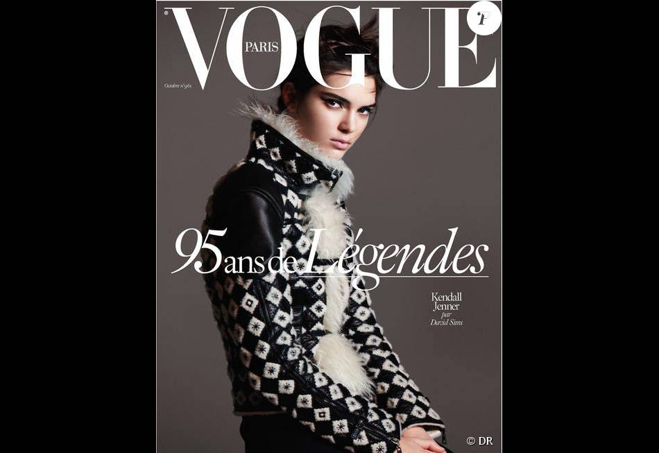 Kendall Jenner photographiée par David Sims en couverture du magazine Vogue Paris. Numéro d'octobre 2015, en kiosques le 29 septembre.