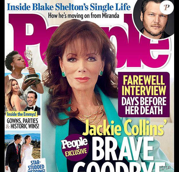 """Jackie Collins en couverture de """"People"""" - septembre 2015"""