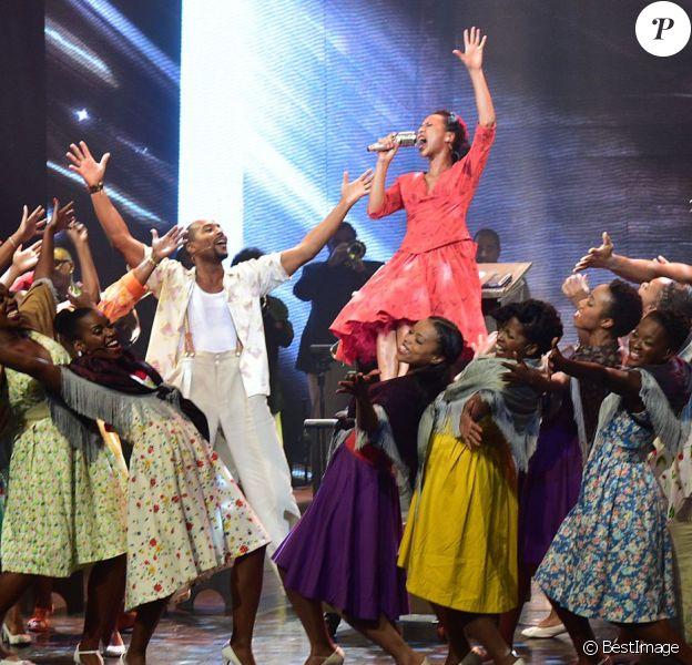 """Photos LDD - Exclusif - Première de la musicale """"Gospel sur la Colline"""", mise en scène par Jean-Luc Moreau, aux Folies Bergères, à Paris, le 5 septembre 2015."""