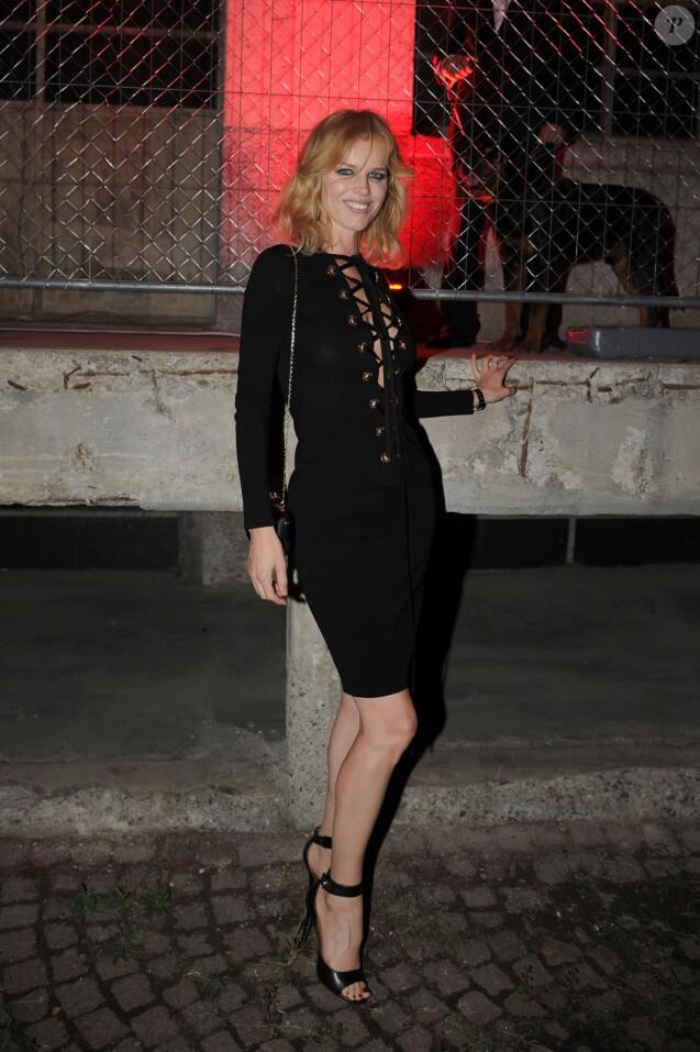 "Eva Herzigovaà la soirée ""Givenchy"" lors de la fashion week de Milan. Le 25 septembre 2015"