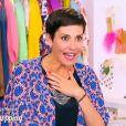 Cristina Cordula choquée par le décolleté d'une candidate des Reines du shopping, le 22 septembre 2015, sur M6. Elle n'en revient pas !