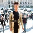 Jada Pinkett Smith arrive au Grand Palais pour assister au défilé Guy Laroche (collection printemps-été 2016). Paris, le 30 septembre 2015.