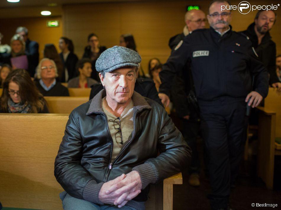 François Cluzet au tribunal de Lyon, le 16 décembre 2014, pour un procès. Michel Neyret poursuit l'acteur François Cluzet en diffamation pour ses déclaration au journal Le Progrès de Lyon