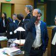 Michel Neyret au tribunal de Lyon, le 16 décembre 2014, pour un procès. Michel Neyret poursuit l'acteur François Cluzet en diffamation pour ses déclaration au journal Le Progrès de Lyon