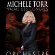 Michèle Torr en concert avec un orchestre symphonique au Palais des Congrès de Paris le 31 janvier 2016.
