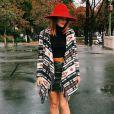 De passage à Paris pour la Fashion Week, Caroline Receveur, entièrement habillée en New Look, y participe avec style !