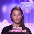 Julie dans la quotidienne de Secret Story 9, sur NT1, le lundi 19 octobre 2015