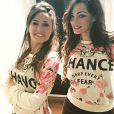 Les deux amies Capucine Anav et Emilie Nef Naf ont passé le week-end ensemble à Milan. Février 2015.