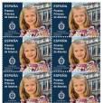 Leonor, princesse des Asturies, qui fête son 10e anniversaire le 31 octobre 2015, a eu droit à la première édition de timbres à son effigie le même mois.