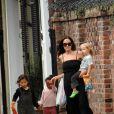Angelina Jolie et ses trois enfants, Pax, Zahara et Shiloh