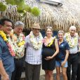 Maud Fontenoy, enceinte, en Polynésie, le 27 octobre 2014