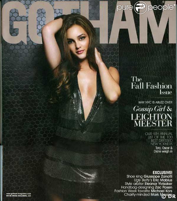 Leighton Meester en couverture de Gotham