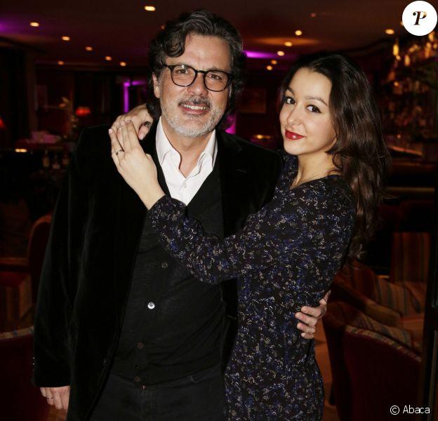 Violette Barratier et son père Christophe Barratier assistent au cocktaïl du 2e Festival du Cinéma et Musique de film de la Baule, le 12 Novembre 2015.
