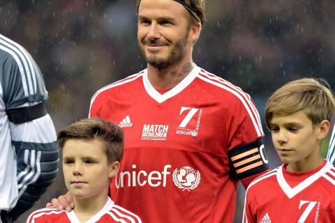 David Beckham, de retour au foot : Romeo, Cruz et Harper fiers de leur papa