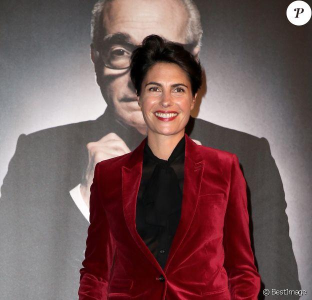 Alessandra Sublet - Photocall de la cérémonie de remise du prix Lumière à Martin Scorsese lors du festival Lumière 2015 (Grand Lyon Film Festival) à Lyon. Le 16 octobre 2015.