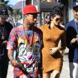 Kylie Jenner, son petit-ami Tyga et sa soeur Kourtney Kardashian se rendent dans un studio à Culver City, le 29 septembre 2015.