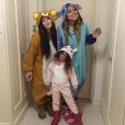 Mariah Carey déguisée avec sa fille Monroe et une amie / photo postée sur Instagram au mois de novembre 2015