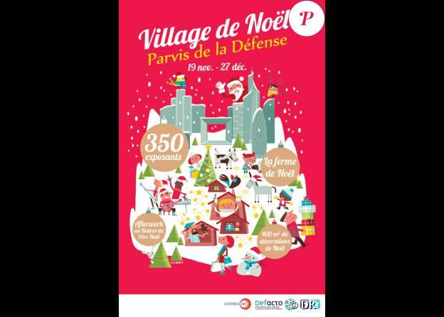21e édition du Marche de Noël de La Défense à Paris, du 19 novembre au 27 décembre 2015.