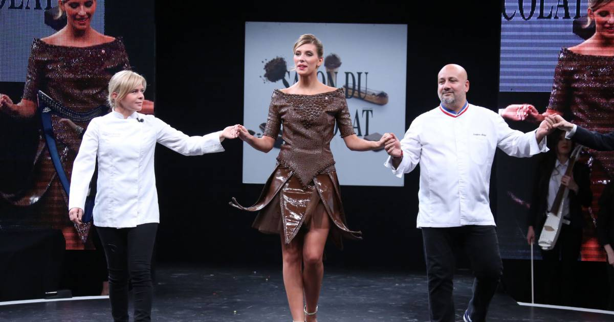 Camille cerf miss france 2015 et les chocolatiers for Porte de versailles salon 2015
