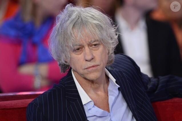 """Bob Geldof - Enregistrement de l'émission """"Vivement Dimanche"""" à Paris le 10 décembre 2014. L'émission sera diffusée le 14 Décembre 2014."""