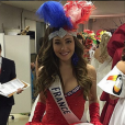 Charlotte Pirroni sublime en robe nationale pour le concours Miss International, au Japon en novembre 2015