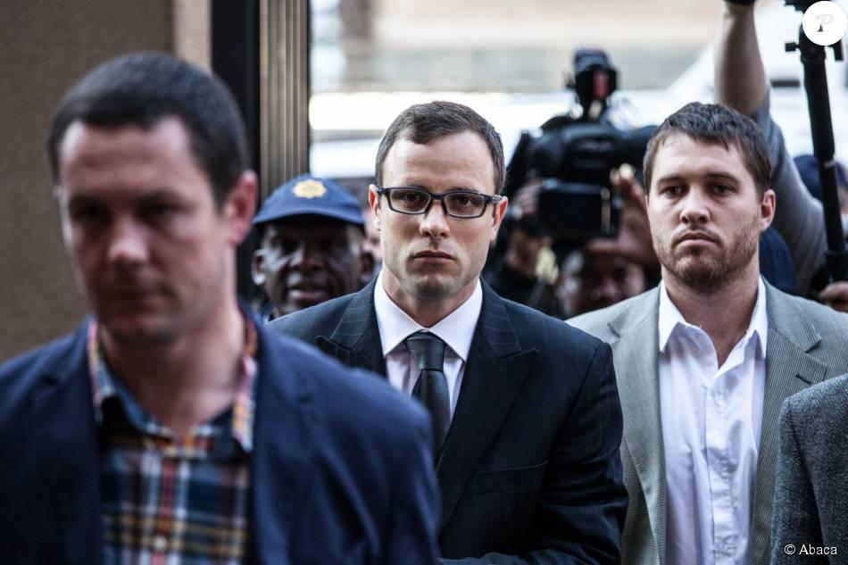 Oscar Pistorius arrive au tribunal de Pretoria, en Afrique du Sud, le 7 août 2014.
